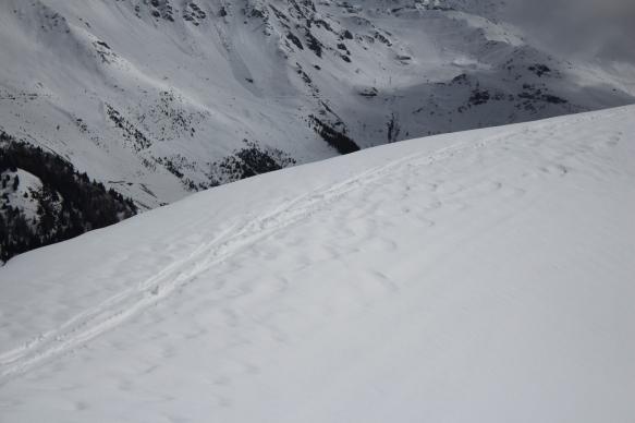 marcher ski replat crête